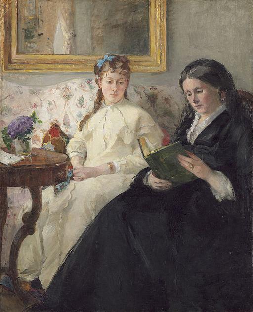 ベルト・モリゾ モリゾ夫人とその娘ポンティヨン夫人