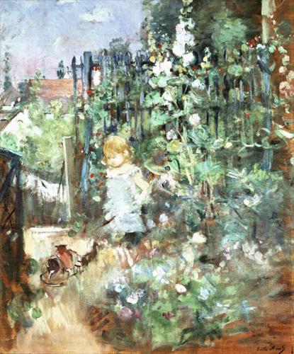 ベルト・モリゾ Child among staked roses