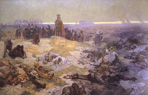 アルフォンス・ミュシャ グリュンワルトの戦闘の後 — 北スラヴ人の団結