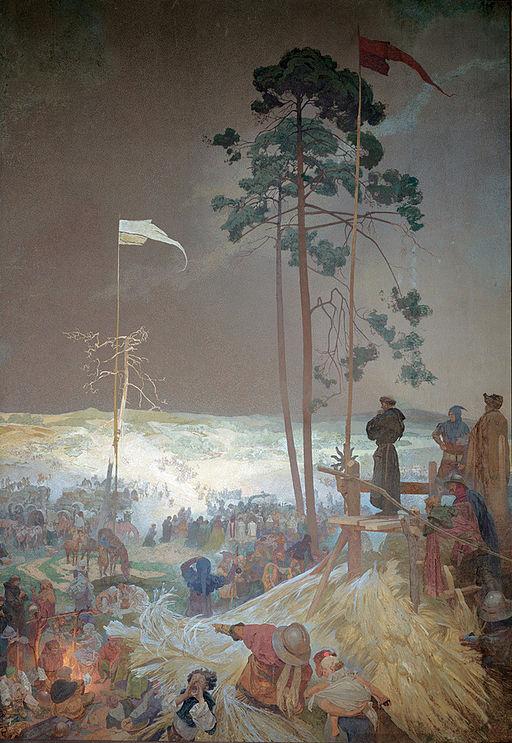 アルフォンス・ミュシャ クジーシュキでの集会 — プロテスタントの信仰
