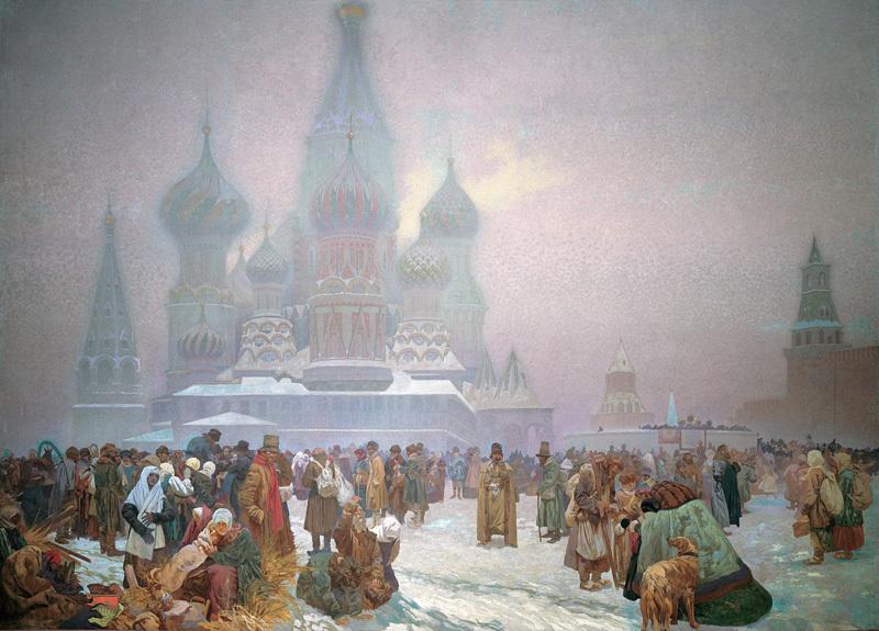 アルフォンス・ミュシャ ロシアの農奴解放の日 — 自由な労働は国家の基盤である