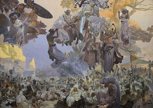 アルフォンス・ミュシャ ルヤナ島のスヴァントヴィト祭 — 神々が戦う時、救いは芸術にある