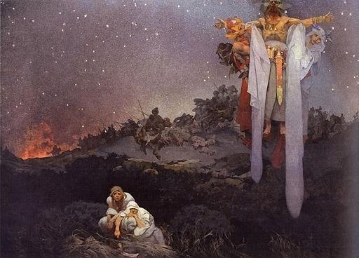 アルフォンス・ミュシャ 故郷のスラヴ人 — トゥラン人の鞭とゴート族の剣の間で