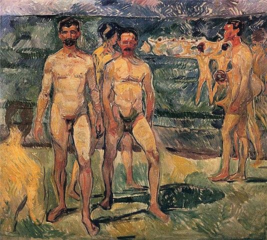 エドヴァルド・ムンク 水浴する男たち