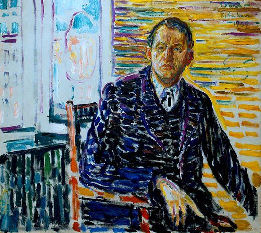 エドヴァルド・ムンク 病院での自画像