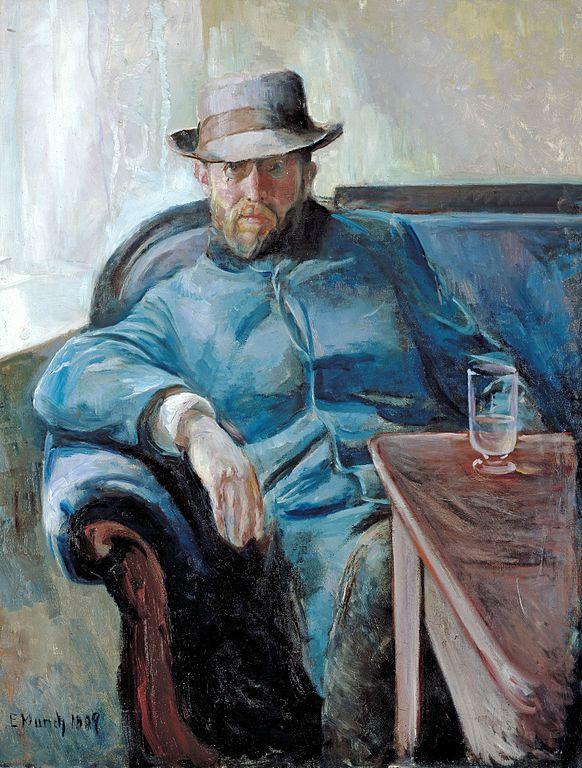 エドヴァルド・ムンク ハンス・イェーゲルの肖像