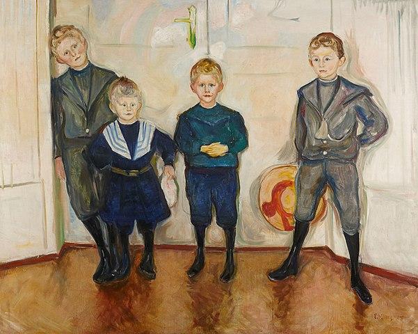 エドヴァルド・ムンク リンデ博士の4人の息子