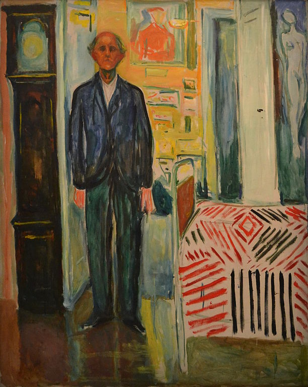 エドヴァルド・ムンク 自画像/時計とベッドの間
