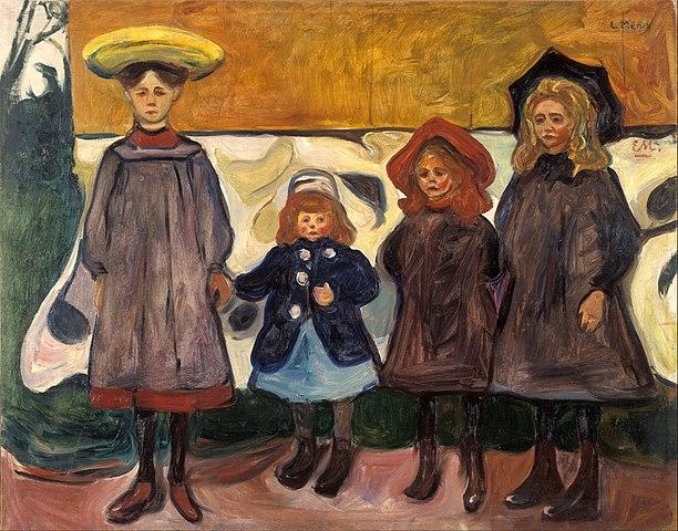 エドヴァルド・ムンク オースゴールストランの4人の少女
