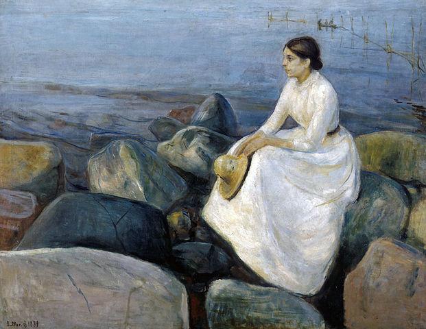 エドヴァルド・ムンク 浜辺のインゲル