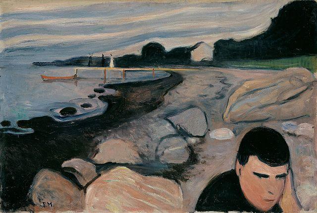 エドヴァルド・ムンク メランコリー/黄色いボート