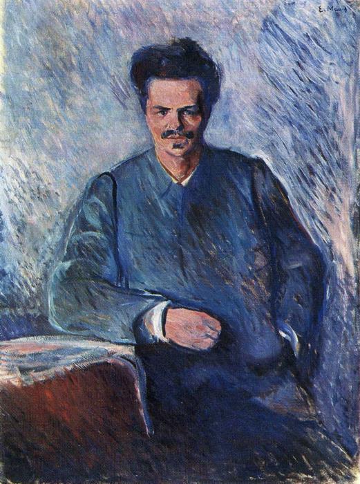 エドヴァルド・ムンク ストリンドベリの肖像