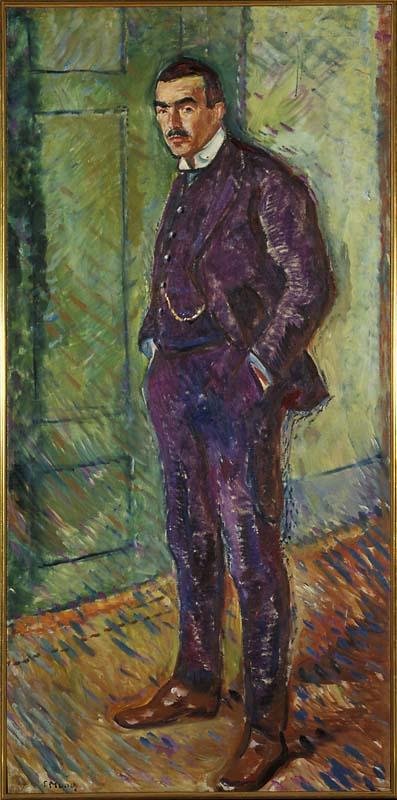 エドヴァルド・ムンク ヤッペ・ニルセンの肖像画