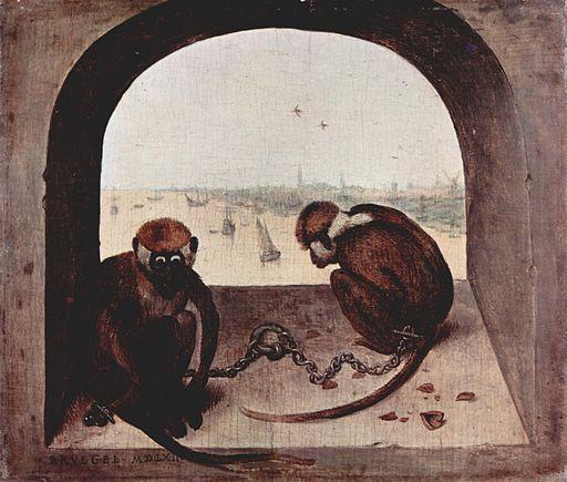 ピーテル・ブリューゲル 2匹の猿