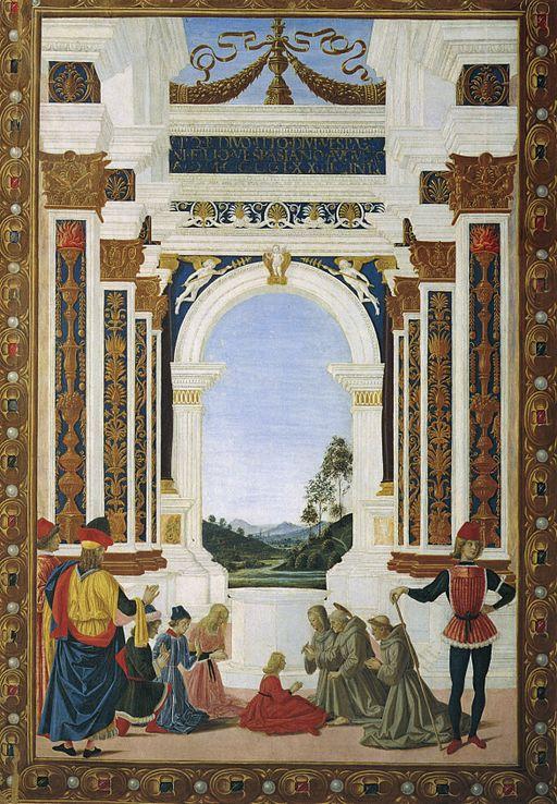 ピエトロ・ペルジーノ ジョヴァンニ・アントニオ・ペトラツィオ・ダ・リエーティの娘の潰瘍を治す聖ベルナルディーノ