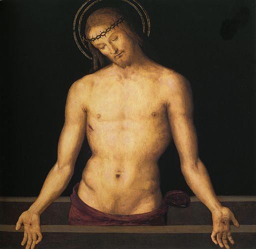 ピエトロ・ペルジーノ 石棺の上のキリスト
