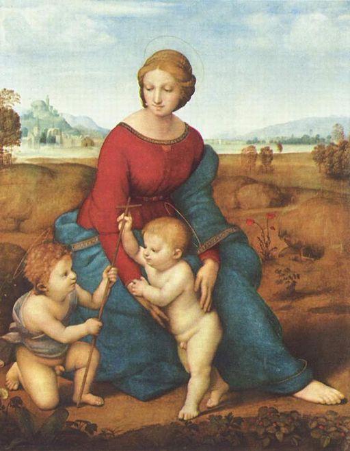 ラファエッロ ベルヴェデーレの聖母(牧場の聖母)