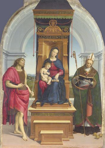 ラファエッロ アンシデイの聖母