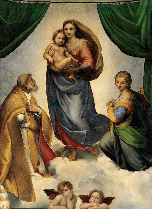 ラファエッロ システィーナの聖母