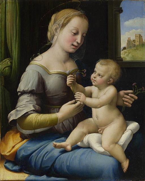 ラファエッロ カーネーションの聖母