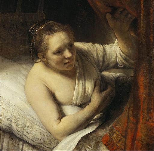 レンブラント・ファン・レイン ベッドの中の女