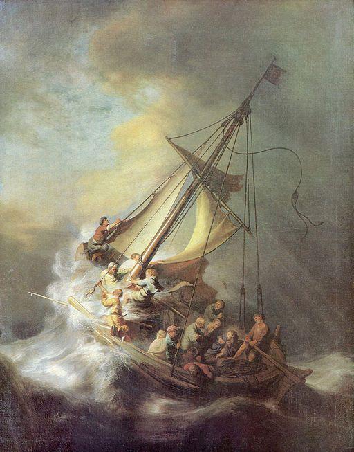レンブラント・ファン・レイン ガラリアの海の嵐