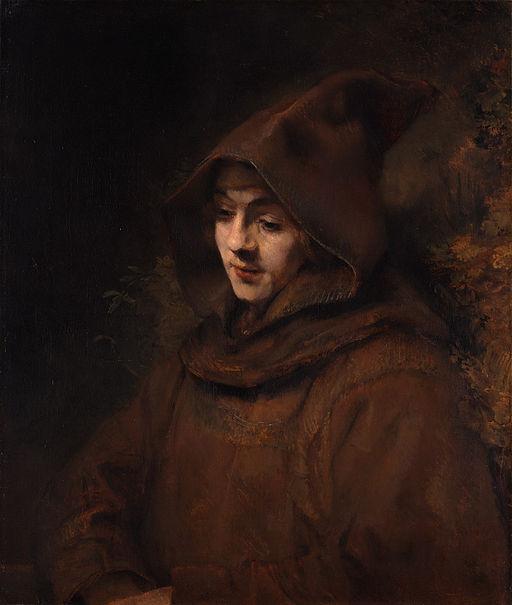 レンブラント・ファン・レイン カプチン派修道士の姿をしたティトゥス