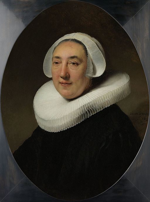 レンブラント・ファン・レイン Portrait of Haesje Jacobsdr. van Cleyburg