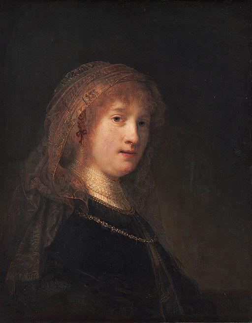 レンブラント・ファン・レイン 妻サスキア・ファン・アイレンブルフの肖像
