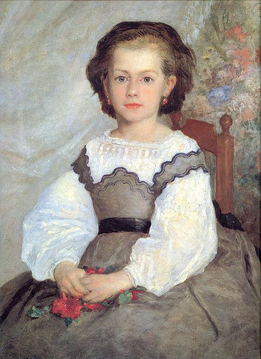 ピエール=オーギュスト・ルノワール ロメーヌ・ラコー嬢の肖像
