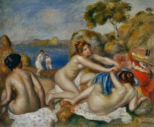 ピエール=オーギュスト・ルノワール 水浴の女たち