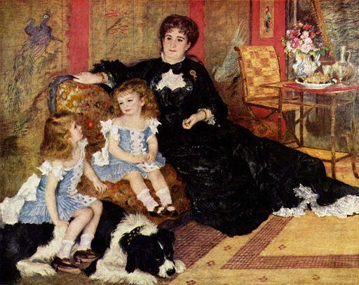 ピエール=オーギュスト・ルノワール シャルパンティエ夫人と子どもたち