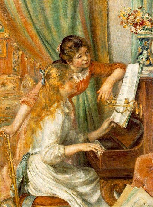 ピエール=オーギュスト・ルノワール ピアノに寄る少女たち