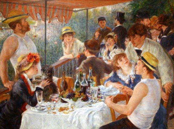 ピエール=オーギュスト・ルノワール 舟遊びをする人々の昼食