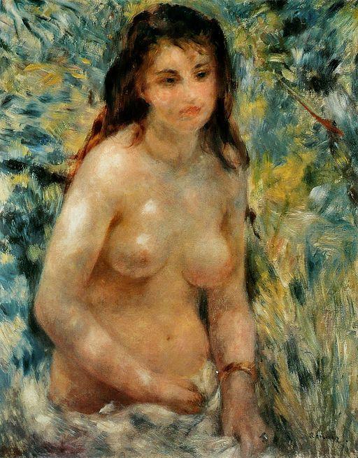 ピエール=オーギュスト・ルノワール 陽光を浴びる裸婦
