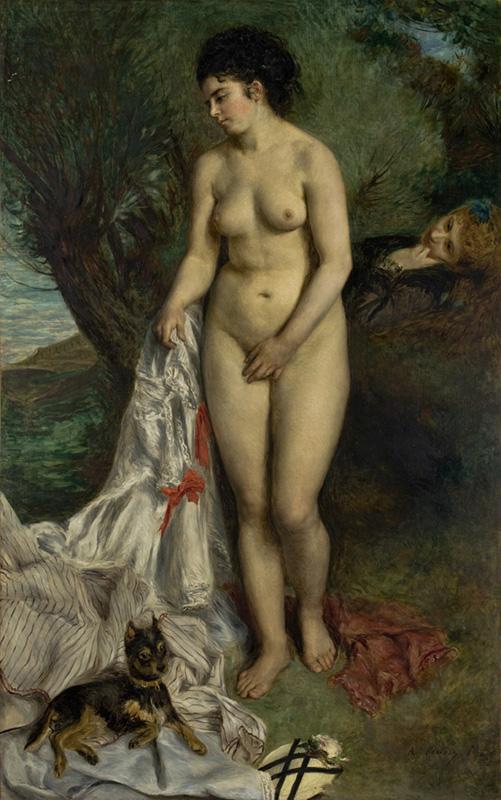 ピエール=オーギュスト・ルノワール 浴女とグリフォンテリア
