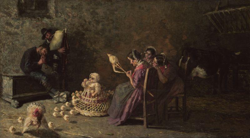 ジョヴァンニ・セガンティーニ バグパイプを吹くブリアンツァの男たち