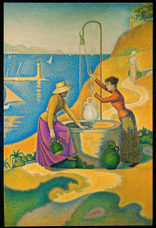 ポール・シニャック 井戸と女性
