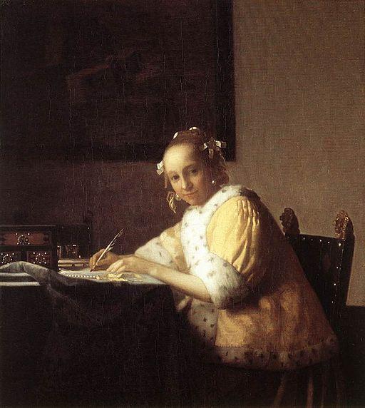 ヨハネス・フェルメール 手紙を書く女