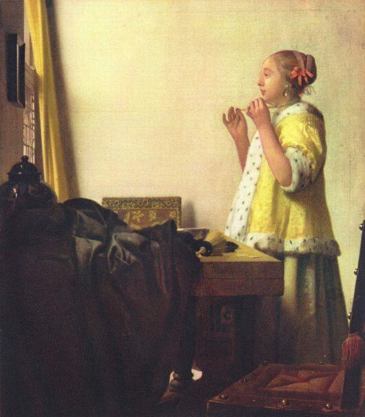 ヨハネス・フェルメール 真珠の首飾りの女