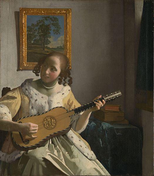 ヨハネス・フェルメール ギターを弾く女