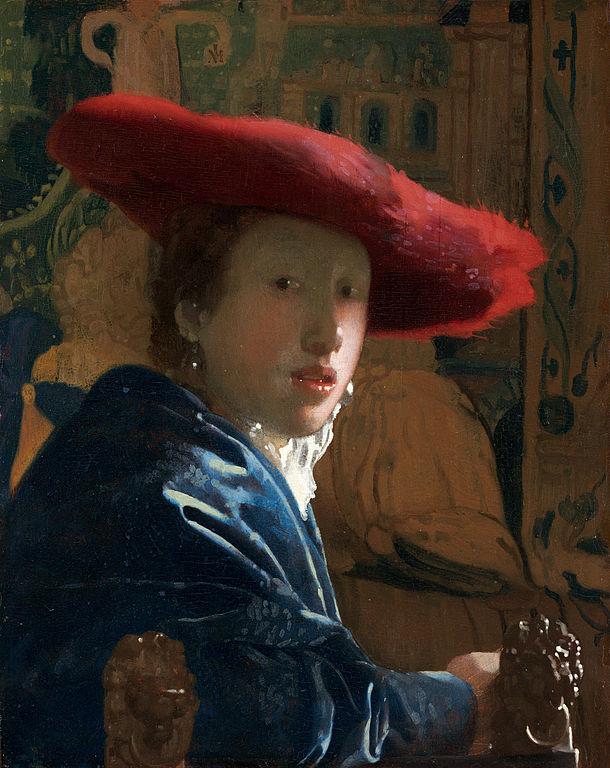 ヨハネス・フェルメール 赤い帽子の女