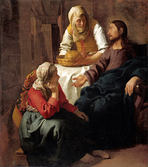 ヨハネス・フェルメール マリアとマルタの家のキリスト