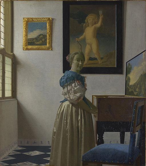 ヨハネス・フェルメール ヴァージナルの前に立つ女