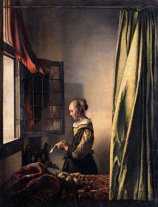 ヨハネス・フェルメール 窓辺で手紙を読む女