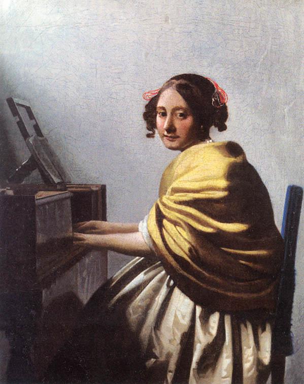 ヨハネス・フェルメール ヴァージナルの前に座る若い女